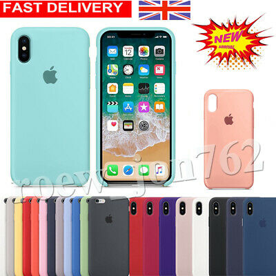 Genuine Original Hard Silicone Case for iPhone XR XS Max 8 7 6s Plus Phone Cover