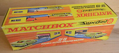 Vintage MATCHBOX SF19 DOUBLE ACTION GARAGE Superfast NEU OVP MIB Toy RAR Car1970