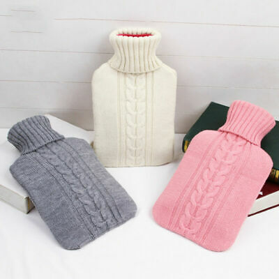 2000ml Knitted Hot Water Bottle Cover Case Heat Warm Keeping Coldproof 3 color