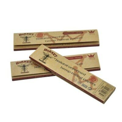 2 x Hornet Organic Brown 110MM Hemp Smoking Cigarette Rolling Paper 32leaves