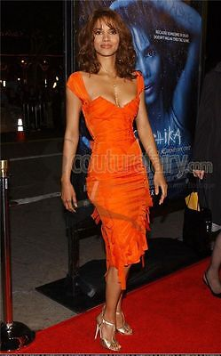 1a1dd414b24 Halle s Iconic Gucci By Tom Ford Ss 2004 Tangerine Frayed Silk Organza Dress