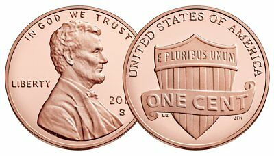 2019 S,W,P,D 1C Lincoln Proof Shield Cent Deep Cameo With New W Mint Mark Prem!