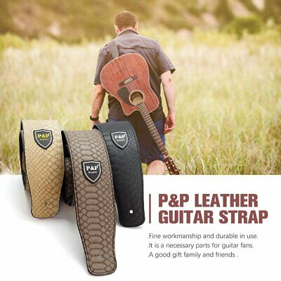 Acoustic Classic PU Leather Electric AU Guitar Strap Soft Basses Luxury II