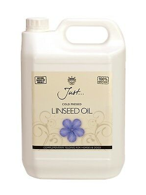 Linseed Oil - 2 x 5ltr Cold Pressed by Just Oil FREE PUMP