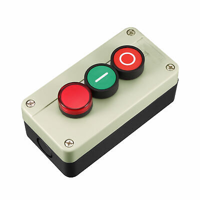 Push Button Switch Station Momentary NC Red, NO Green, Red Signal 660V 10A