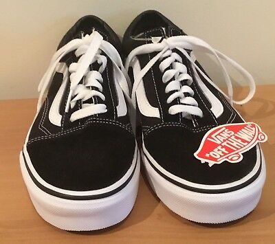 Authentic Vans Classic Old Skool Black White Mens US Size 8 /Womens US Size 9.5