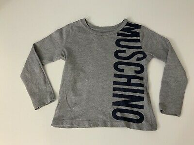 Moschino Kids Long Sleeve T Shirt, Top, Size Age 4 Years, 104 Cm, Grey, Vgc