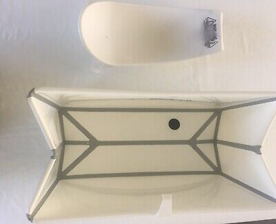 Stokke Flexi Bath And Newborn Baby Insert White Portable Packable