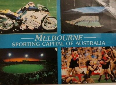 Retro – Melbourne: Sporting Capital of Australia – Landscape Postcard – 1980's