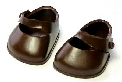 Vintage 1950s Ginny Vogue Tagged BROWN SHOES Side Knob ~ Muffie / Ginger 8""