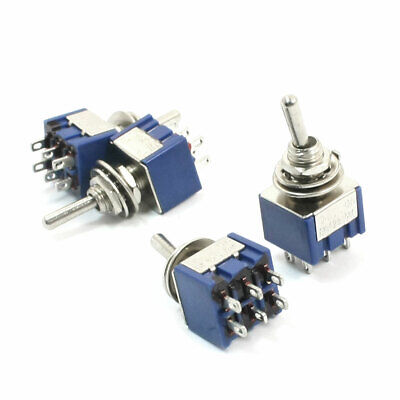 2pc Power Toggle Switch On-Off-On 6P DPDT 15A 125V 10A 250V Screw Terminal #5023