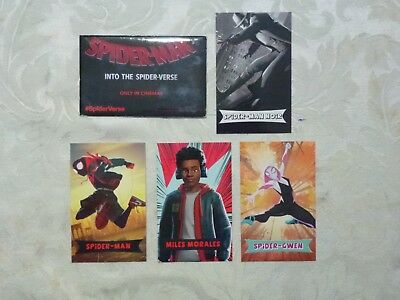 Spiderman Into The Spider-verse Hoyts Collectable Card Pack + the rare NOIR card