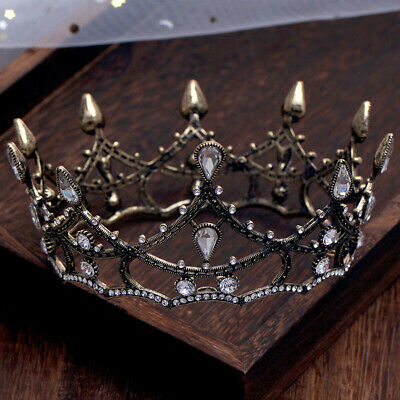 Vintage Baroque Pageant Party Wedding Bridal Crystal Queen Crown Tiaras Prom