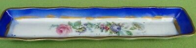 PORCELAINE DE FRANCE Hand Painted Jewelry or change tray