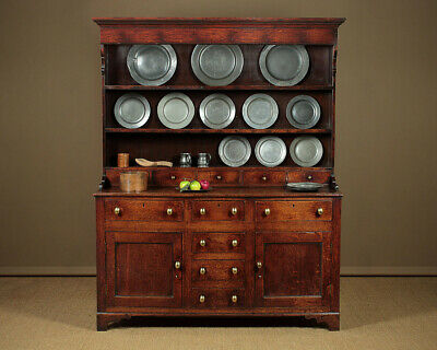 Antique Georgian Oak North Wales Dresser c.1800.