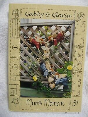 Mums Moment Gabby & Gloria Angel Fabric Dolls Star Heart Pattern Sew craft Quilt