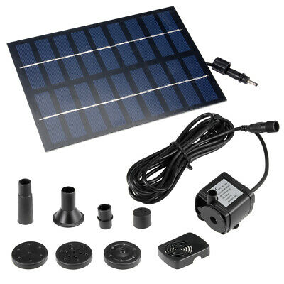 DC4.5-10V 1.8W Solar Power Fountain Water Pump Panel Kit Pool Pond Submersible