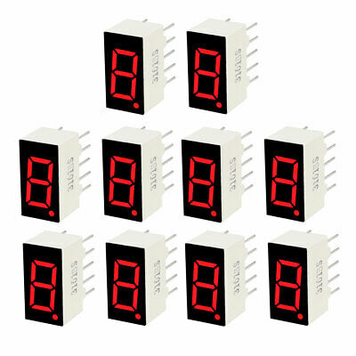 "10 pcs Digital Tube Red LED Display Common Anode 1.8/"" 56x38mm Red 10-pin"