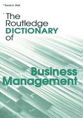 New, The Routledge Dictionary of Business Management (Routledge Dictionaries), S