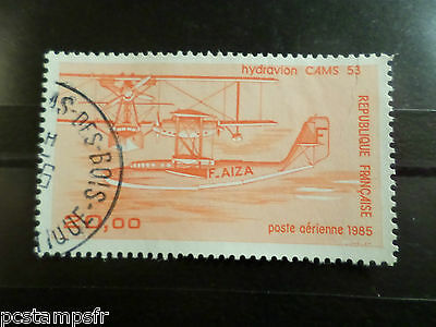 FRANCE - 1985 - Stamp aerial 58, PLANE SEAPLANE CAMS 53, obliterated