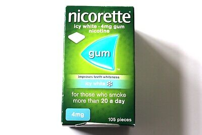Nicorette Icy White Flavour 4mg Gum - 105 Pieces - Improves Teeth Whiteness