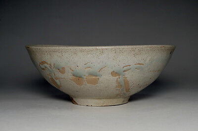 Vintage Japanese Glazed Pottery Bowl in Tokoname Ware #2534