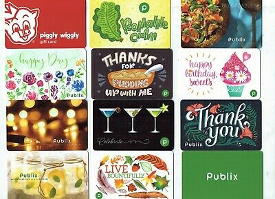 Collectible Gift Card - YOU CHOOSE 3 for $1.59 -Food /Grocery STORE- Publix, Pig