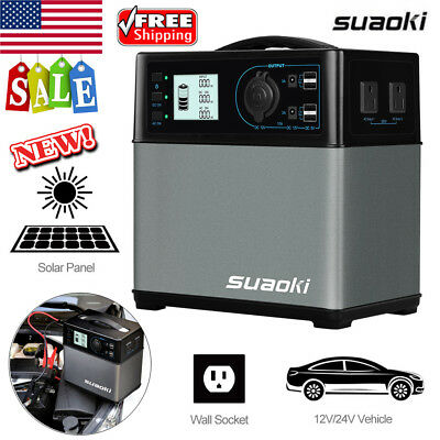 400Wh 300W Solar Panel Generator Inverter Gas Free Power Station Storage Charger