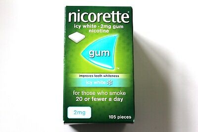 Nicorette Icy White Flavour 2mg Sugar-Free Coated Gum - 105 Pieces