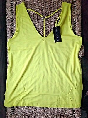 New Look Black Vest Cotton Scoop Top BNWT New With Tags Size 8