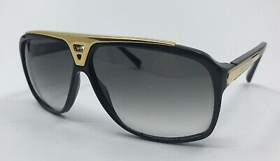 e2ad9e75bae26 LOUIS VUITTON LV Evidence Sunglasses Z0350W Black   Gold Sunglasses ...