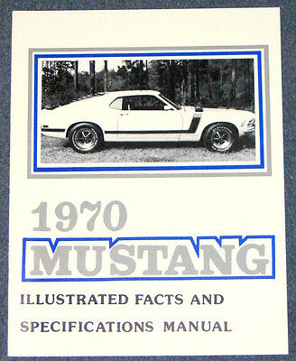 Ford Mustang Illustrated Facts Book 1968 68 Repro Vintage dealer literature