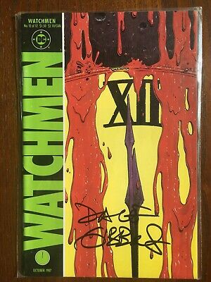 WATCHMEN issue 12 1986 Signed by Dave Gibbons 1st Print.