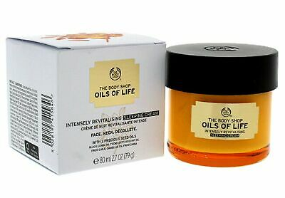 The Body Shop Oils Of Life Intensely Revitalising Sleeping Cream New & Boxed