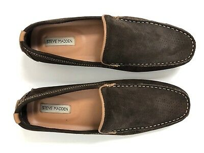 ffa05d6ac485f Steve Madden Brown Mens Perforated Design Driving Loafer Trending Casual  Shoe