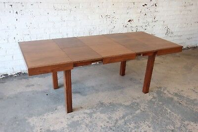 Early George Nelson for Herman Miller Walnut Extension Dining Table