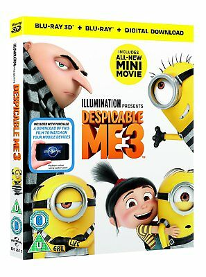 Despicable Me 3 (3D + 2D Blu-ray, 2 Discs, Region Free) *NEW/SEALED*