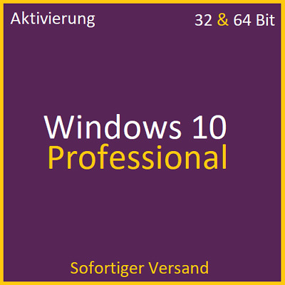 Windows 10 Pro Professional 32 & 64 Bit Product Key Win 10 Lizenzschlüssel