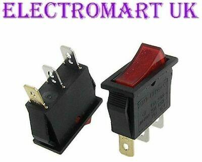 Archway Kebab Doner Machine Mains Power On Off Red Neon Rocker Switch Spst 16A