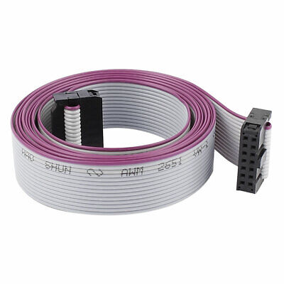 2.54mm Pitch 14Pin 14 Wire F/F IDC Connector Flat Ribbon Cable 148cm Length