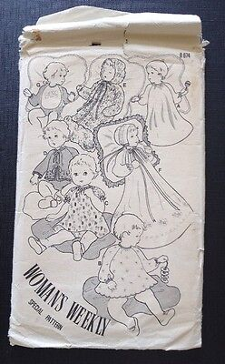 Vintage Woman's Weekly B674 Special pattern Babies Birth to 9 months Uncut