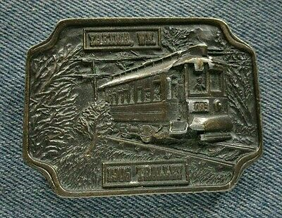 Yakima Wn 1906 Trolley Lions Club 1976 Bergamot Brass Works Vintage Belt Buckle