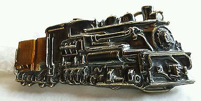 Steam Engine Railroad Shaped Cutout Train Vintage Belt Buckle Made In Usa 1983