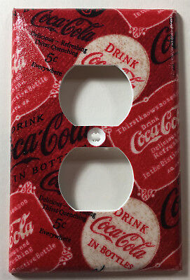 E Coca Cola Print Outlet Plate Cover Bathroom Kitchen