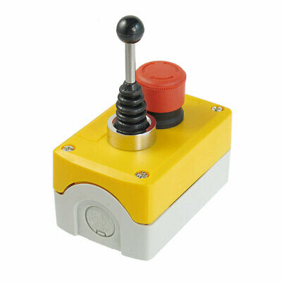 240V 3A Red Emergency Stop 2-Direction Joystick Latching Push Button Station