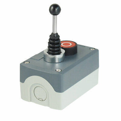 240V 3A Latching 2-Direction Joystick Momentary Red Flat Push Button Station