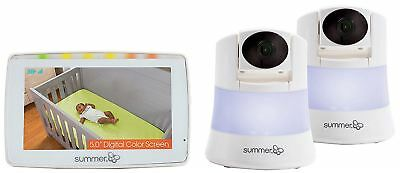 Summer Infant WIDE VIEW 2.0 DUO DIGITAL VIDEO MONITOR WITH 2 CAMERAS Baby BNIB