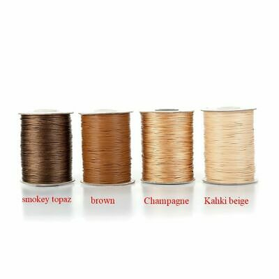 0.5/0.8/1.0/1.2/1.5/2.0mm 90/45 Yards Waxed Cords Threads Rope Beading Jewelry