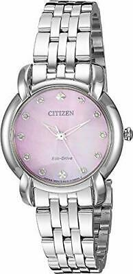 Citizen Eco-Drive EM0710-54Y Jolie Diamond Accent with Pink MOP 30mm Watch