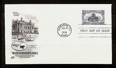 FIRST DAY COVER #3209f Trans-Mississippi 10c Reissue ARTCRAFT U/A FDC 1998